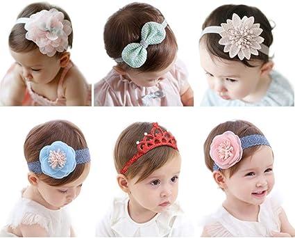 Boutique Infants Girl Heart Cute Hair Headwear Baby Headband Hairbands Flower
