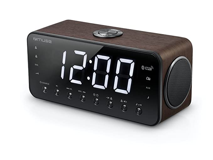 Muse M-196 DWT - Radio (Reloj, Digital, FM,PLL, 4 W, LED, 4,57 cm (1.8