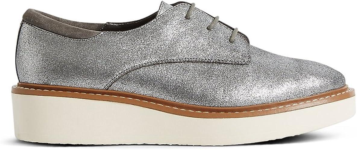 Leather Flatform Brogue Shoes