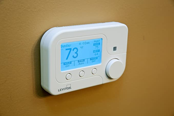 Leviton RC-2000WHZB Wireless Omnistat2 Multistage & Heat Pump with Humidity Control Thermostat, White - Programmable Household Thermostats - Amazon.com
