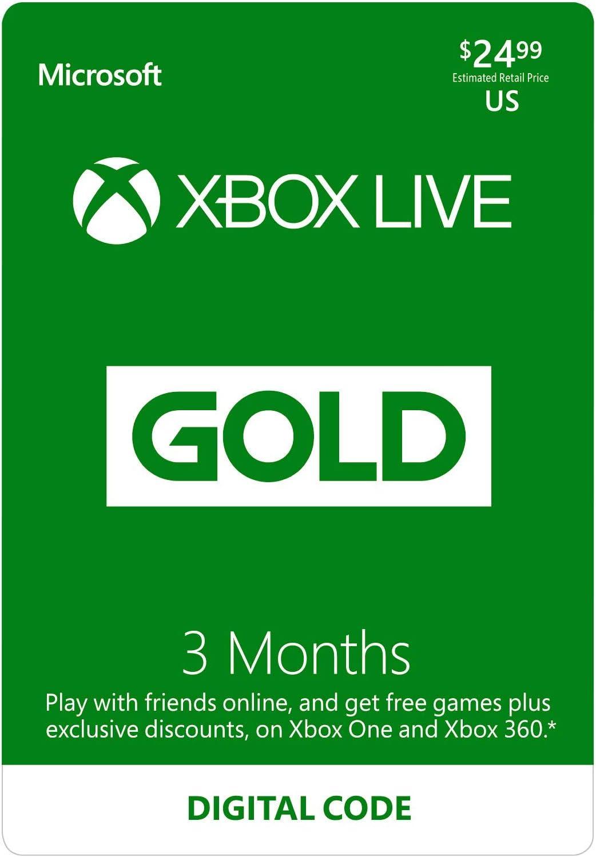 Amazon com: Xbox Live Gold: 6 Month Membership [Digital Code