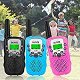 Walkie Talkies, Duyoi Kids Walkie Talkies 3 Packs 3 Miles Range with LCD Screen Flashlight Walkie Talkies for kids Toy Camping Hiking Outdoor Adventures