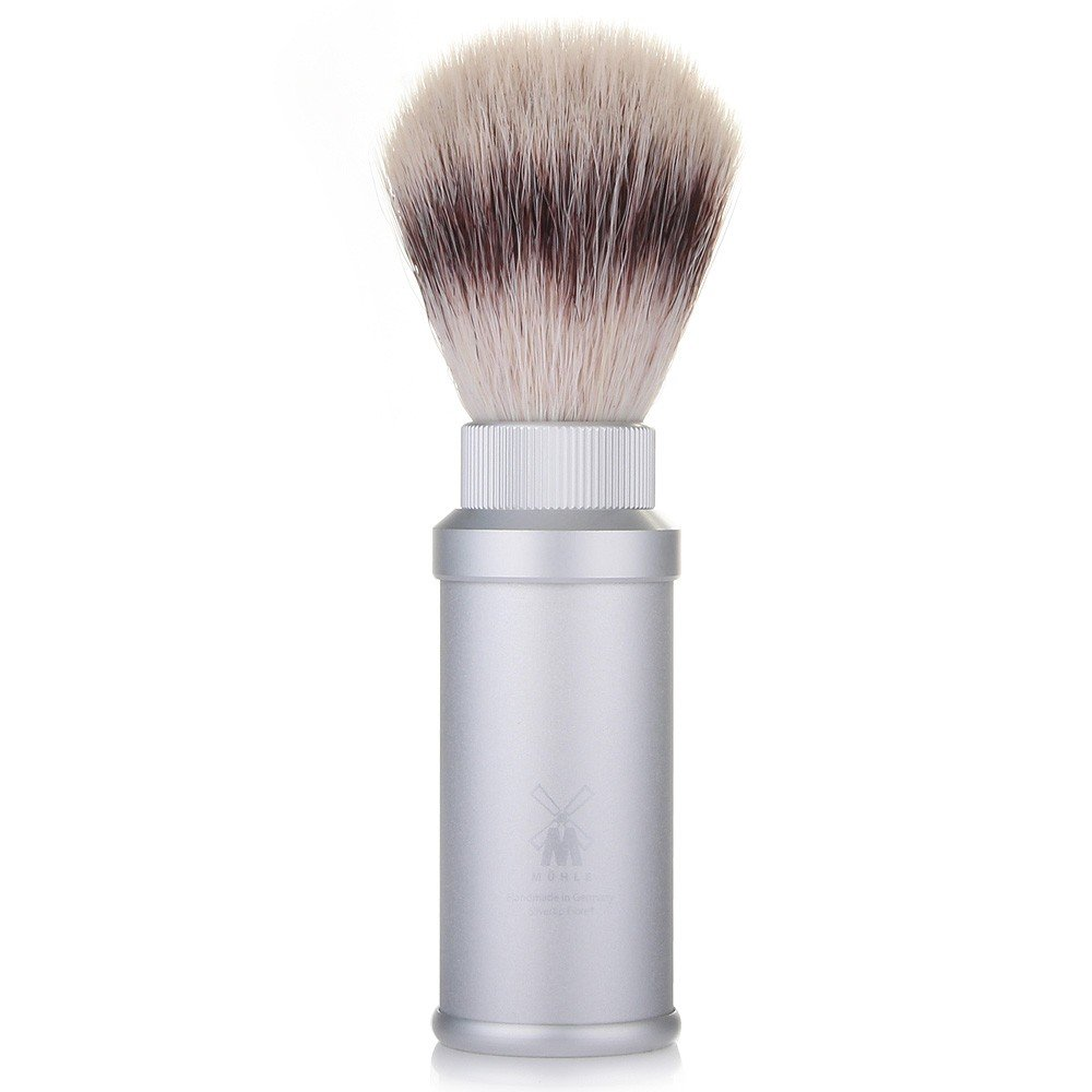 Muhle Silvertip Fibre Travel Shaving Brush - Anodized Aluminum