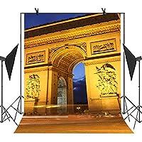 MEETS 5x7ft City Landmark Building Backdrop Paris Arc de Triomphe Background Photo Booth Studio Props YouTube Backdrop MT426