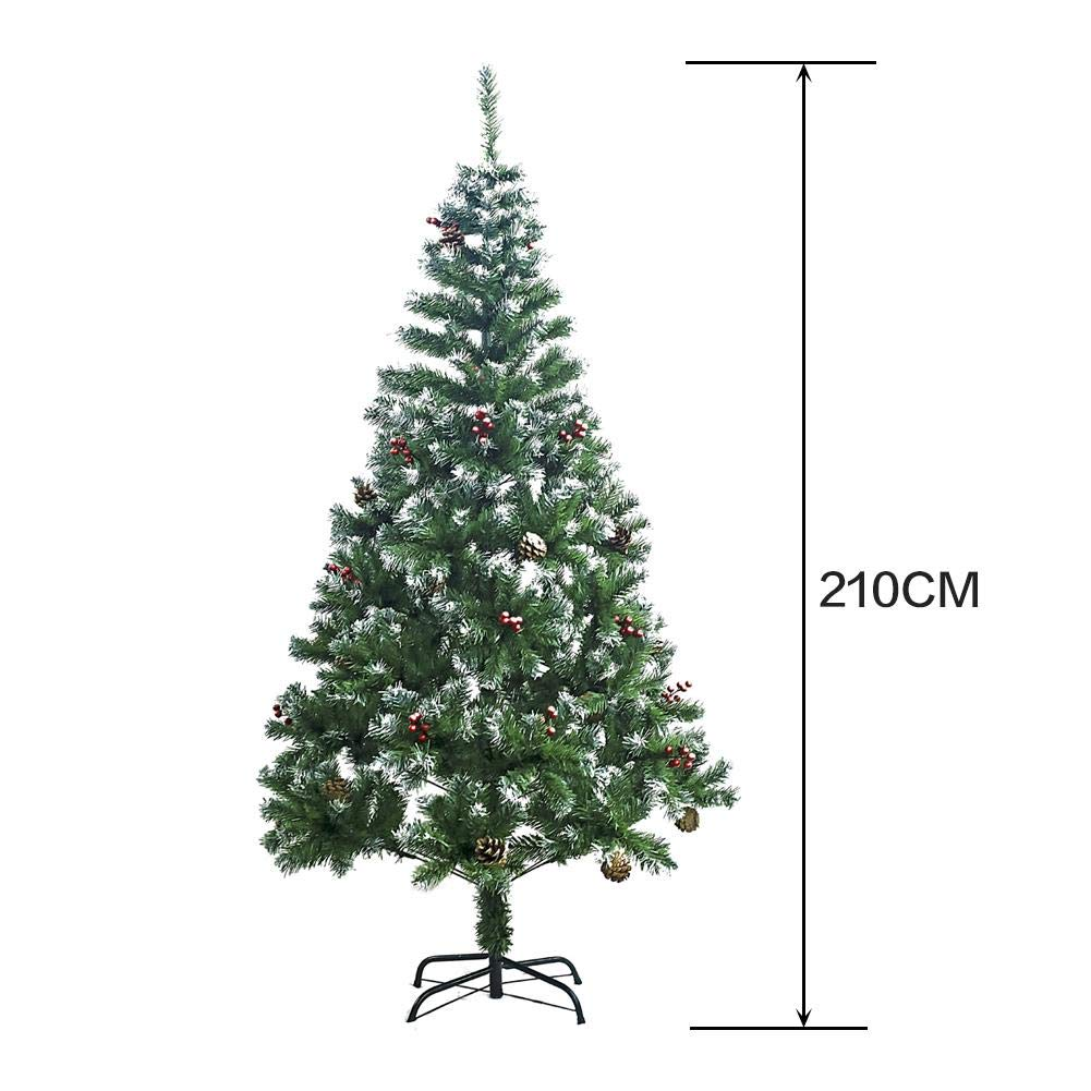 Artificial Christmas Tree 4ft/5ft/6ft/7ft Indoor Xmas Decoration ...