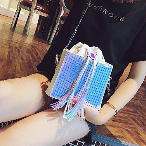 Bandoulière Qualité Sac Sac Laser Lady Pu Seau Épaule D'Été Nnew Femmes Sac Haute À De Sac Mode GWQGZ Main Chaîne En Gland De Cuir Sac d7xq0gwnSp