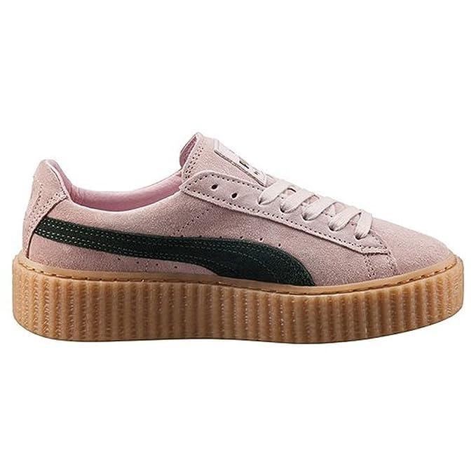 6efc6e42599 Puma Suede (Size UK 4.5) Fenty by Rihanna Creeper Sneakers - Coral Cloud  Pink - Ultramarine Green - Oatmeal  Amazon.co.uk  Shoes   Bags