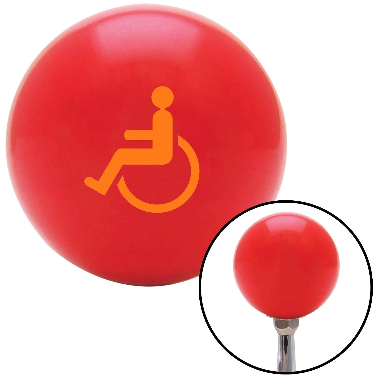 American Shifter 101987 Red Shift Knob with M16 x 1.5 Insert Orange Wheelchair