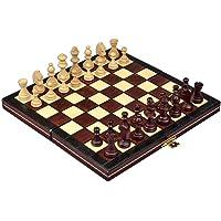 Continental Juego de ajedrez magnético portátil, Hecho a Mano en Polonia, pequeño