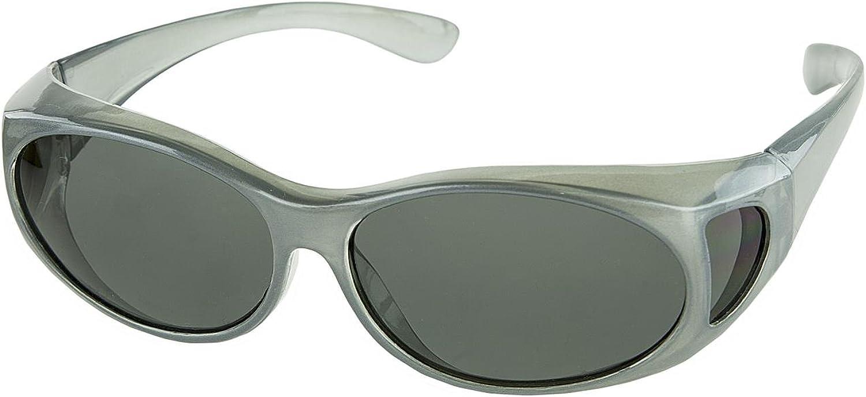 LensCovers Sunglasses - Wear Over Prescription Glasses. Size Small with Polarization.
