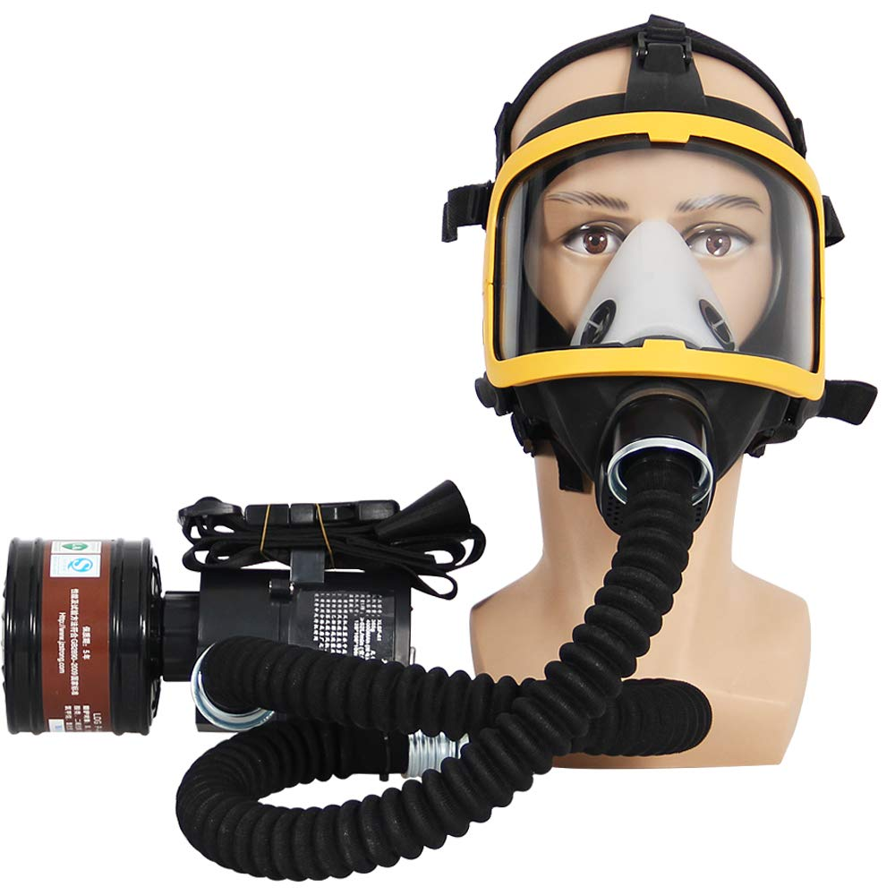 Electric Constant Flow Air Mask, FDA Tested Full Face Mask Respirator, Powered Respirator PAPR Mask, Good Quality Filter