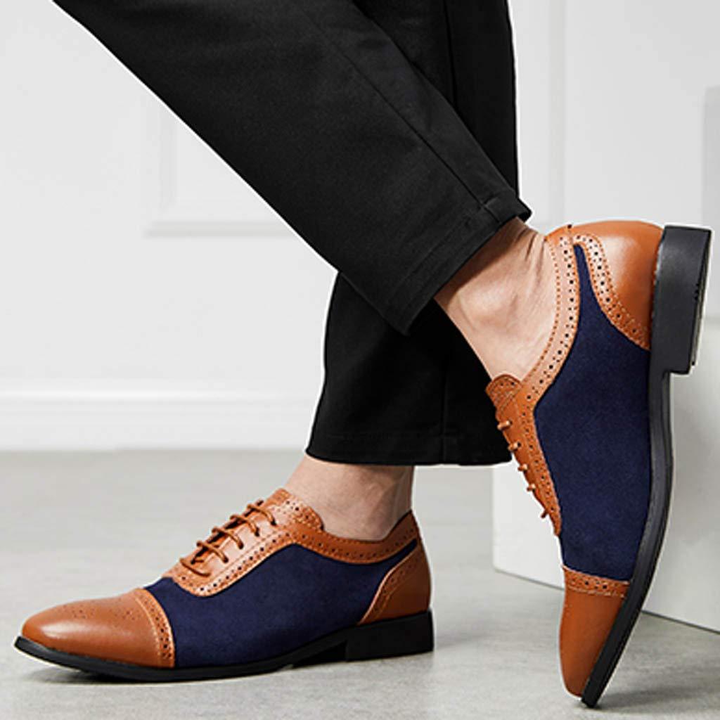DODUMI Souliers De Cuir London Chaussures Chaussures De Grande Taille D/éContract/éEs pour Hommes Chaussures De Style Britannique pour Hommes Chaussures daffaires pour Hommes