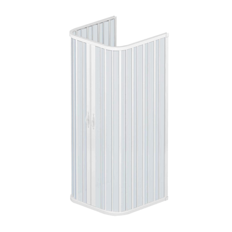 Box a 3 lati 80x90x80 in PVC mod Ariete con apertura centrale