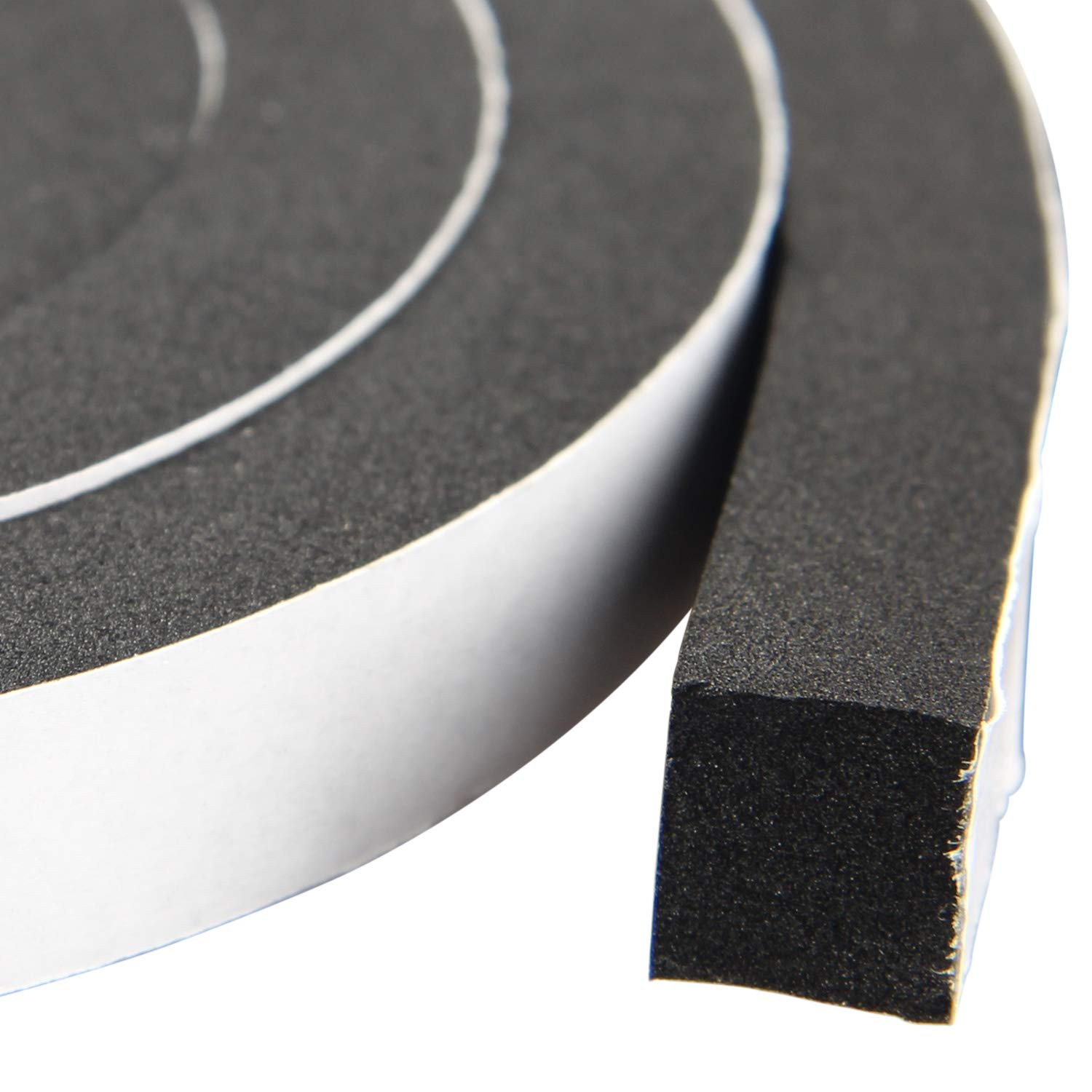 Total 50 Feet Long 3 Strips of 16.5 Ft Long Each Foam Tape 1//4 Inch Wide X 1//8 Inch Thick Weather Stripping for Doors and Window High Density Foam Seal Tape Sliding Door Weather Strip