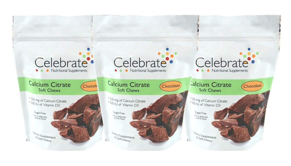 Celebrate Calcium Citrate Soft Chews - 500 mg - Chocolate - 3 Pack