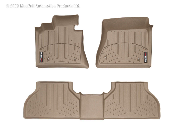 WeatherTech 45497-1-2 FloorLiner, Front//Rear, Tan