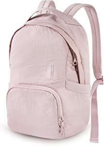 Laptop Backpack for Women, BAGSMART Computer Backpack Anti-Theft Fits 13 Inch Laptop, Casual Daypack Lightweight Water Resistant for Travel, Work, College, School, Pink