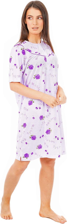 i-Smalls Chemise de Nuit /à Rose Imprim/é Thermique en Molleton avec Masque pour Les Yeux Lilas