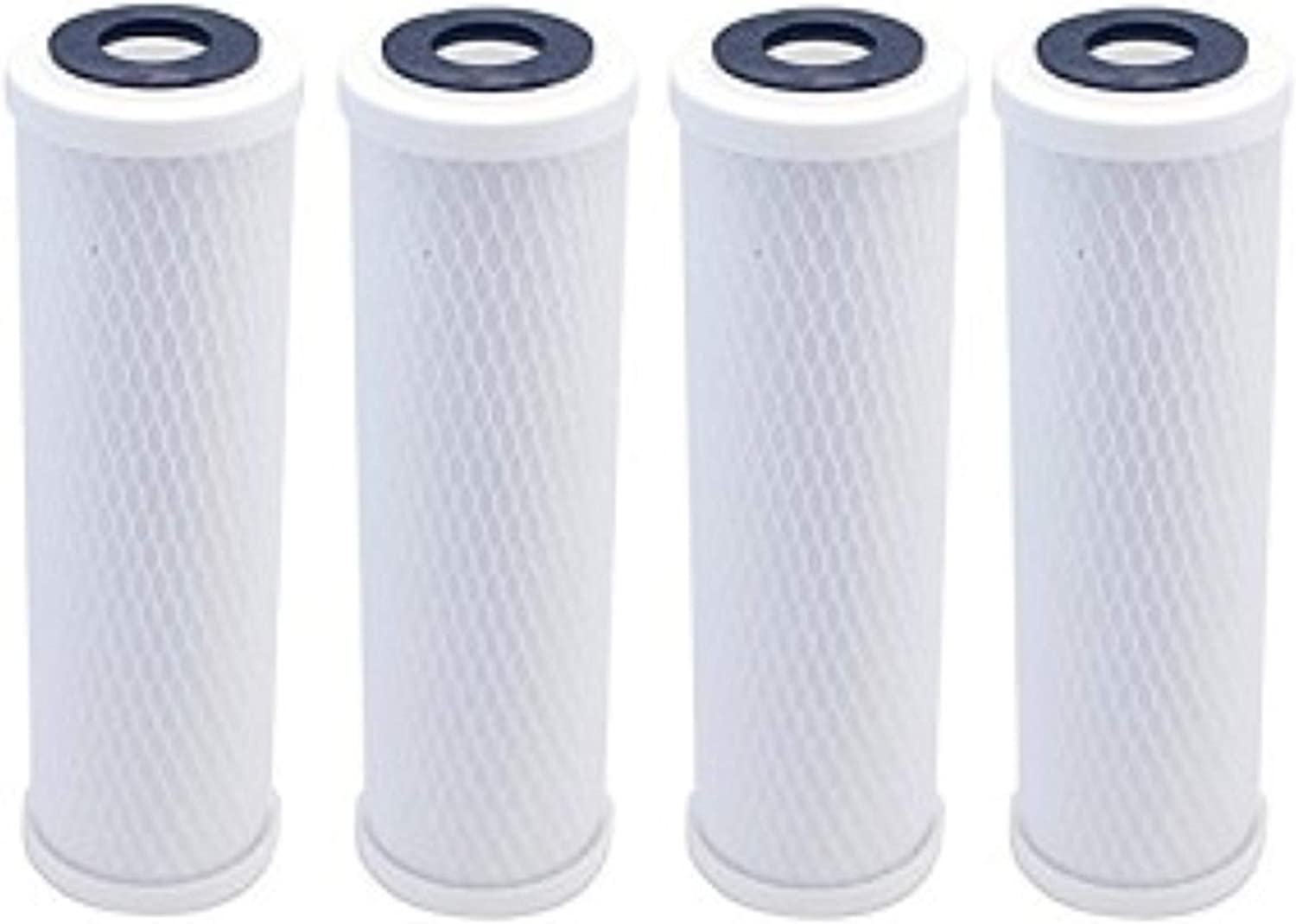 4-Pack Replacement for Compatible with OmniFIlter CBF3 Activated Carbon Block Filter - Universal 10
