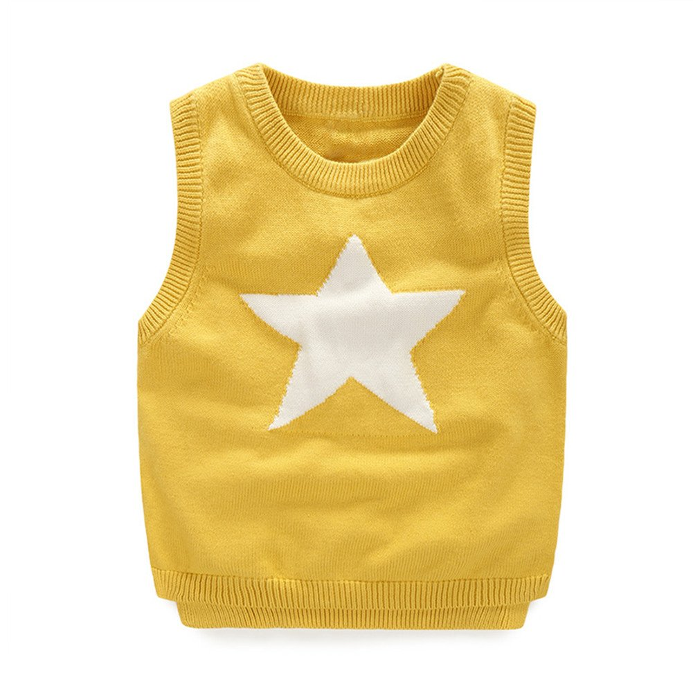 Mud Kingdom Little Boys School Uniform Round Neck Sweater Vests Star SS0471