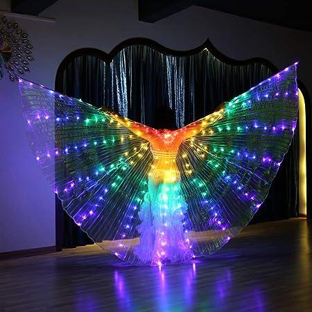 Amazon.com: LOHOME - Disfraz de danza del vientre con alas ...