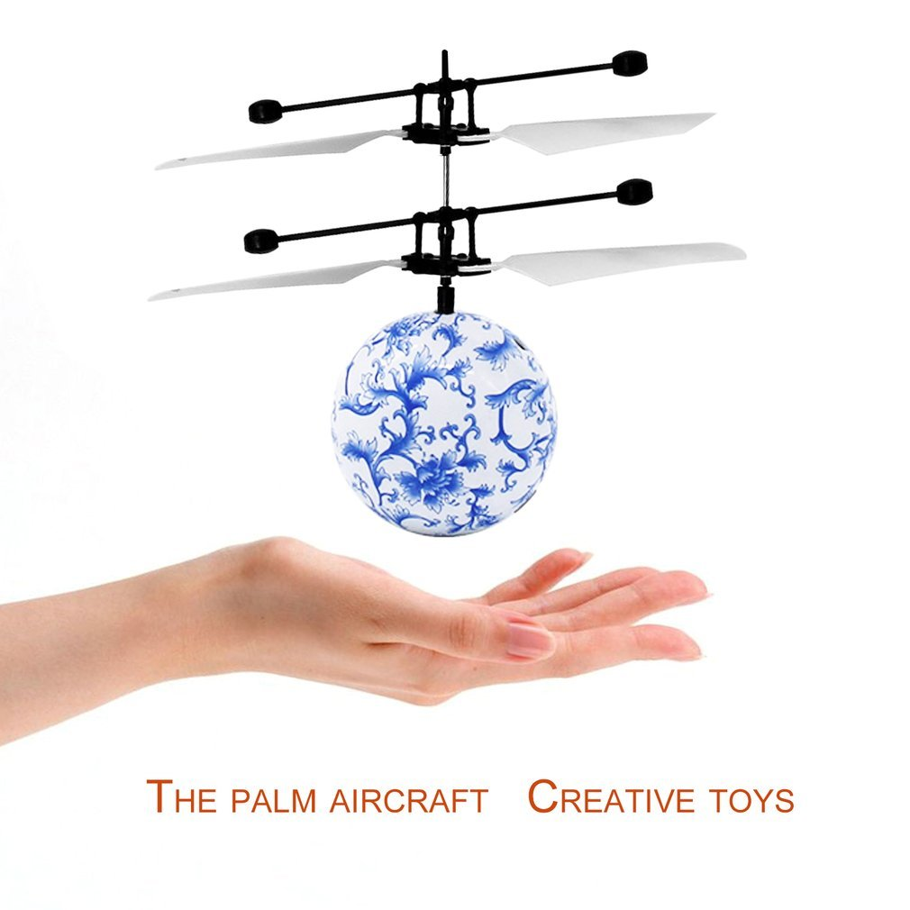 Qulable RC Infrared Induction Aircraft With Blue And White Porcelain Ball Kids Toy