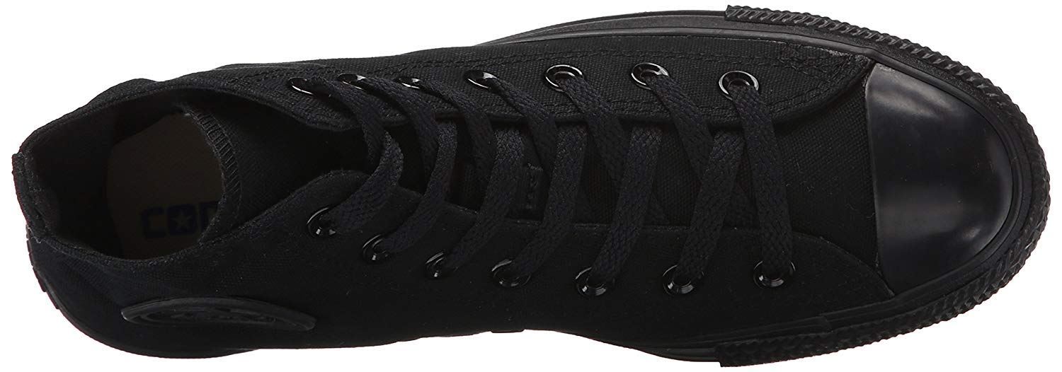 Converse Mens Chuck Taylor All Star High Top, 4.5 D(M) US, Black Monochrome by Converse (Image #4)