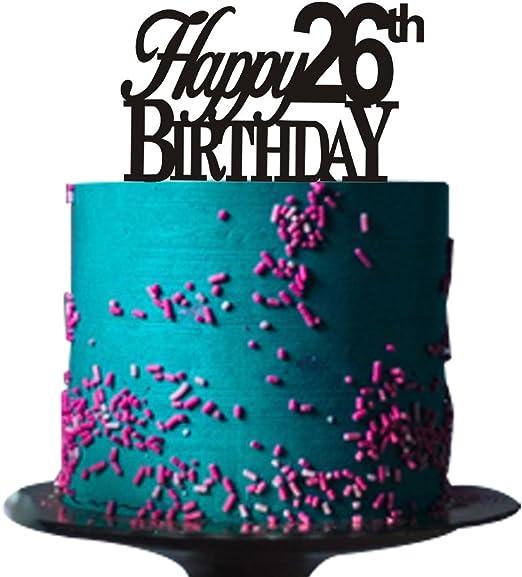 Amazon.com: Happy 26 de tarta de cumpleaños para 26 de tarta ...