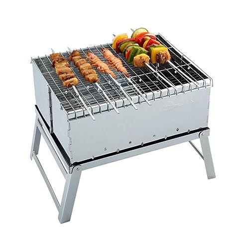 Mini horno al aire libre plegable acero inoxidable barbacoa ...