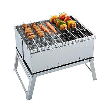 Mini horno al aire libre plegable acero inoxidable barbacoa parrilla barbacoa parrilla de carbón de leña