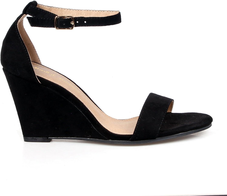 black heel wedge
