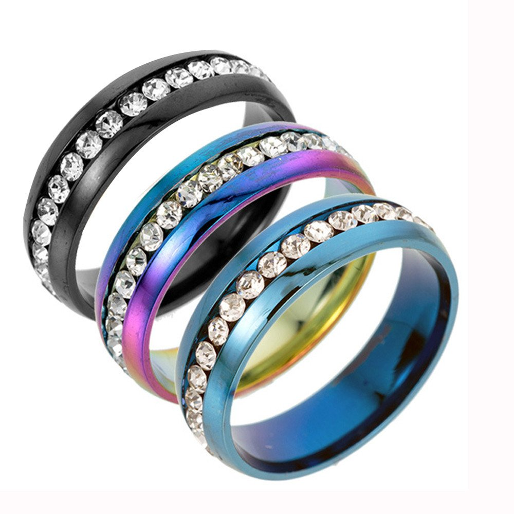 Vintage Unisex Rings for Women Men Titanium Stainless Steel Punk Totem Fashion Couple Round Ring Jewelry ODGear by ODGear_Rings (Image #4)