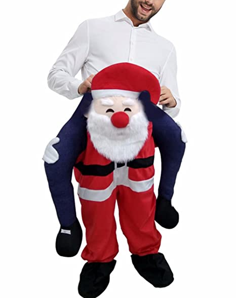 Amazon.com: huiyankej Piggyback Santa costume Adult Carry On ...