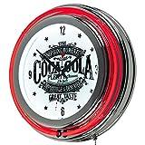Trademark Global Coca-Cola Brazil 1886 Vintage Neon Clock