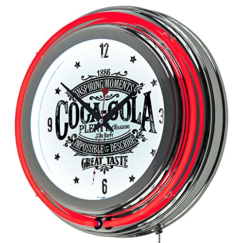 Trademark Global Coca-Cola Brazil 1886 Vintage Neon Clock