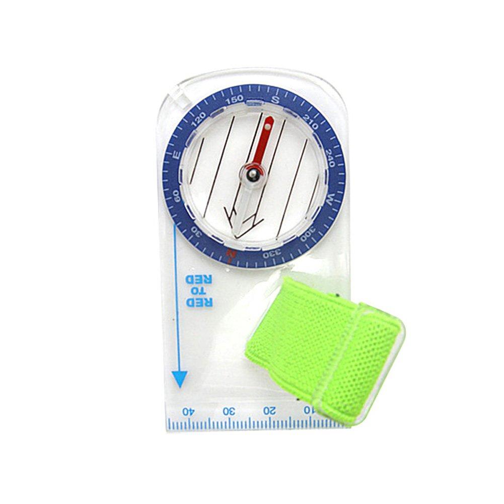 Rokoo Mini boussole de pouce mini portable avec échelle de carte pour la randonnée d'orientation camping bicyclette scouts