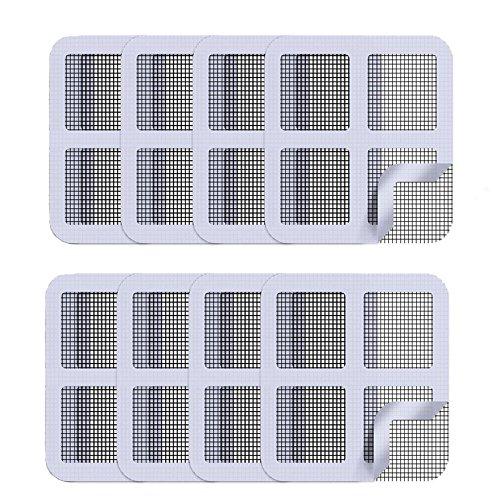 Window and Door Screen Repair Patch, Adhesive Repair Kit for Covering up Holes (Grey 8 pack) Covering Kit