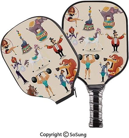Amazon.com : 3D Print Graphite Pickleball Paddle Set, Circus ...