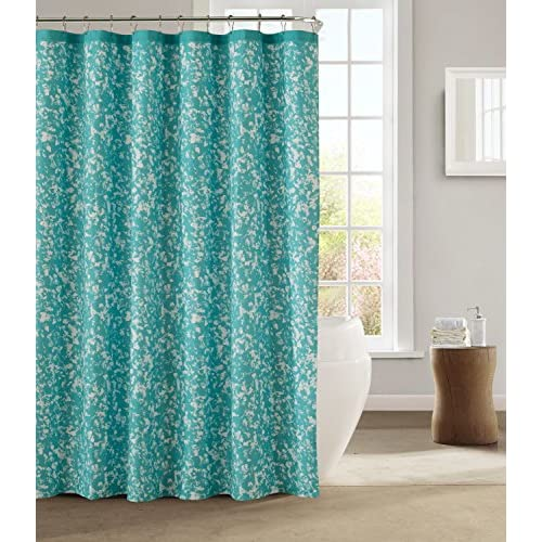 "Cheap kensie Duck River Textiles Susie Shower Curtain, 72"" x 72"", Teal free shipping"