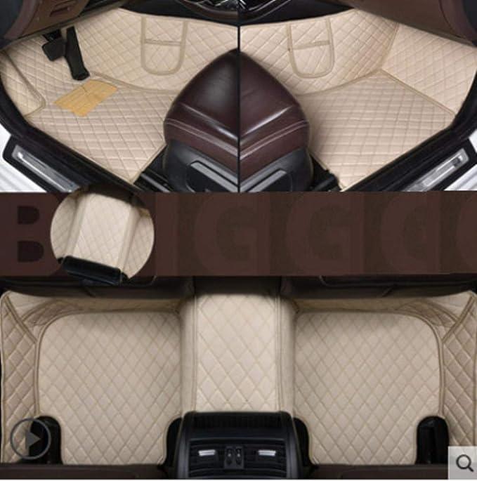 Wxhhh Leder Auto Fußmatten Für Toyota Rav4 2009 2014 2015 2016 2017 2018 Auto Fuss Auflage Automobil Teppich Cover Styling Bodenmatte Sport Freizeit
