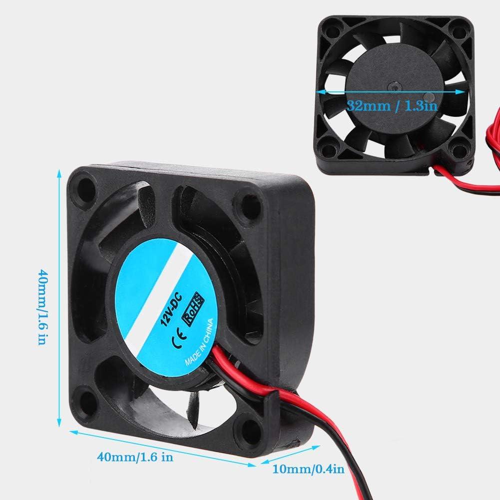 4Pcs 3D Printer Assembly Part for Makerbot 12V 7000RPM 6.7CFM HIgh-Speed Cooling Fan Lazmin Cooling Fans