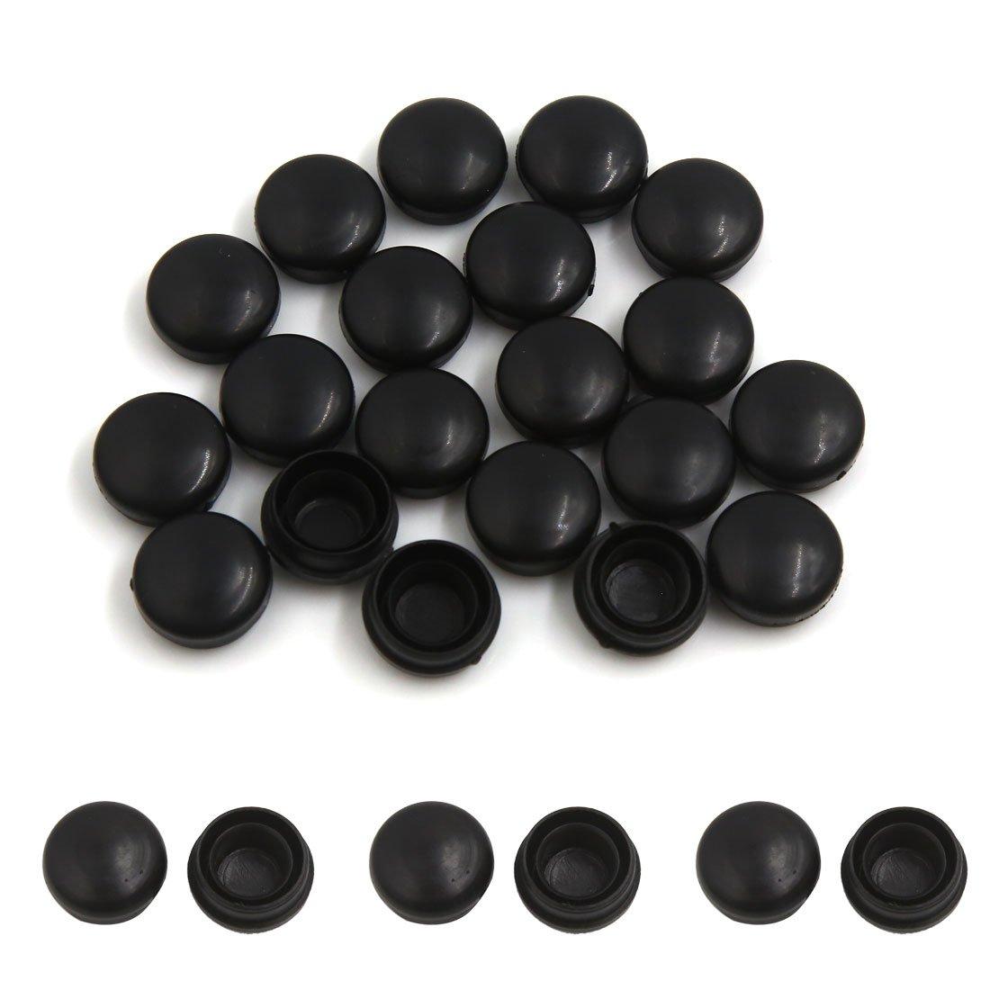 Sourcingmap 20Pcs 13mm Diámetro Tapa Plástico Remaches de Limpiaparabrisas Sujeción Negro: Amazon.es: Coche y moto