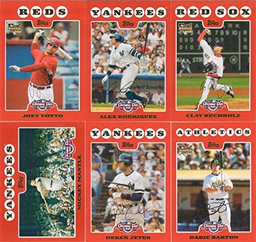 2008 Topps Opening Day MLB Baseball Series Complete Mint ...