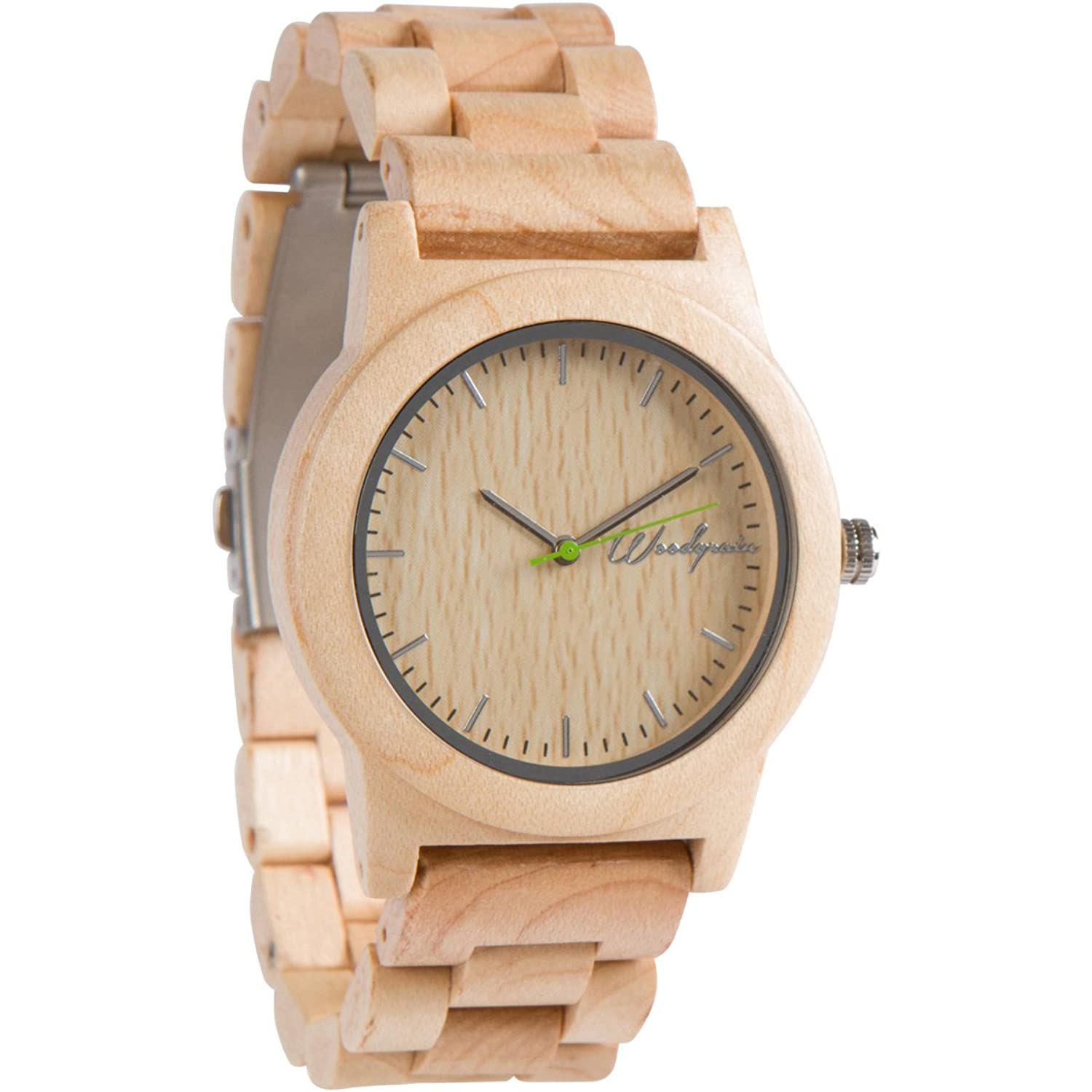 stonewashed koa steel watch wood hawaiian watches by collection grain original barrel products