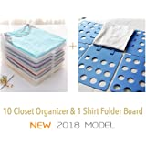 PROTECT YOUR CLOTHES Shirt Folder And Organizer For Closet, Space Saver T  Shirt Stacker