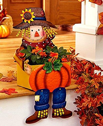- Scarecrow Porch Sitter Planters