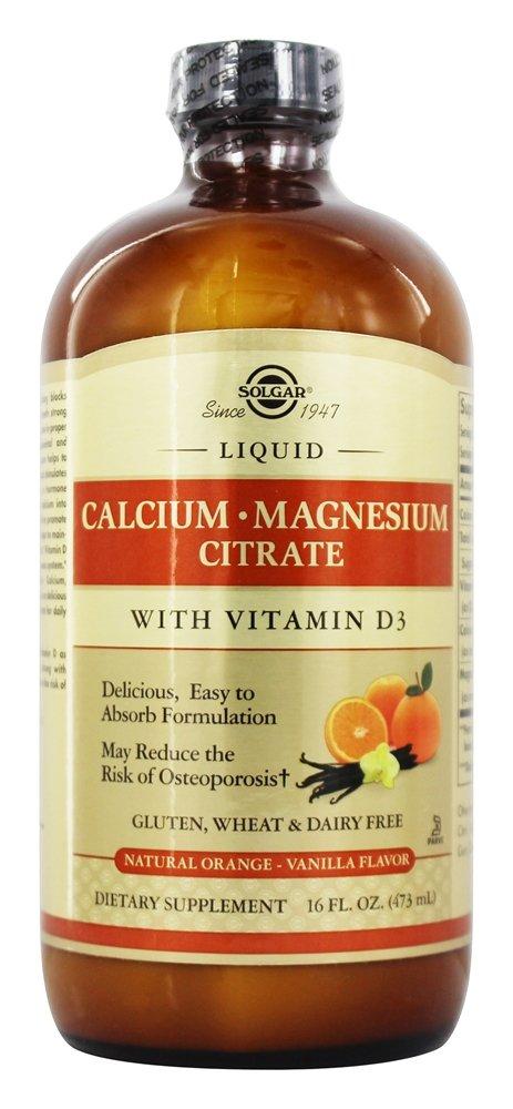 Amazon.com: Solgar - Liquid Calcium Magnesium Citrate with 3 Natural Orange Vanilla: Health & Personal Care