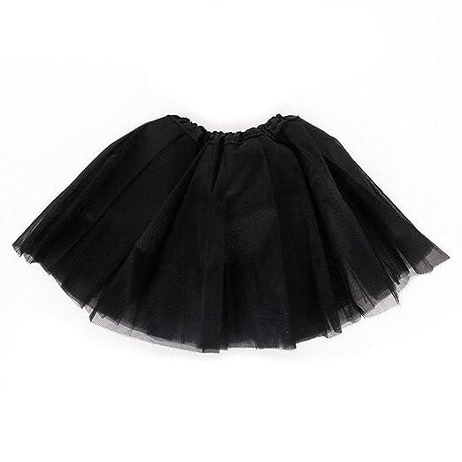 6bbe1069f4 Amazon.com: Oplon Kids Girls Three Layers Mesh Ruched Tutu Skirt A ...