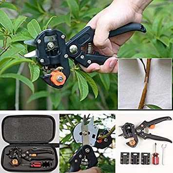 Garden Fruit Tree Pro Pruning Shears Scissor Grafting Cutting Tools Suit // Jardín de árboles