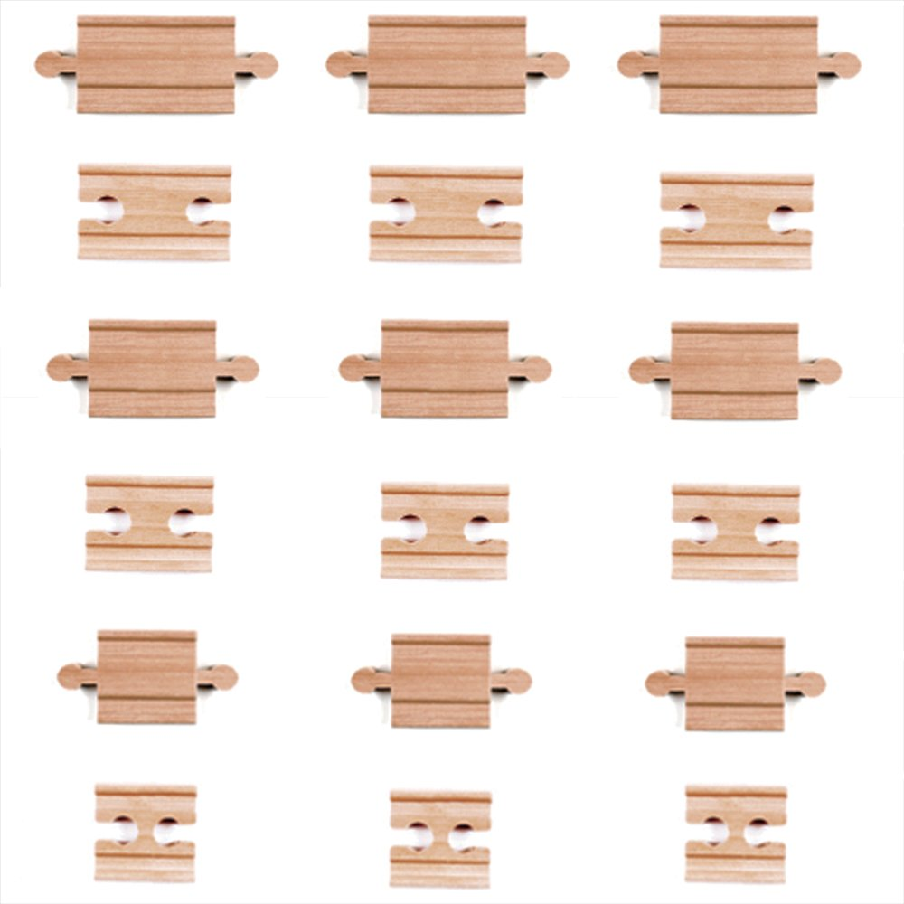 18 piece wooden train track connectors adapters by tiny conductors 100 689829639983 ebay. Black Bedroom Furniture Sets. Home Design Ideas